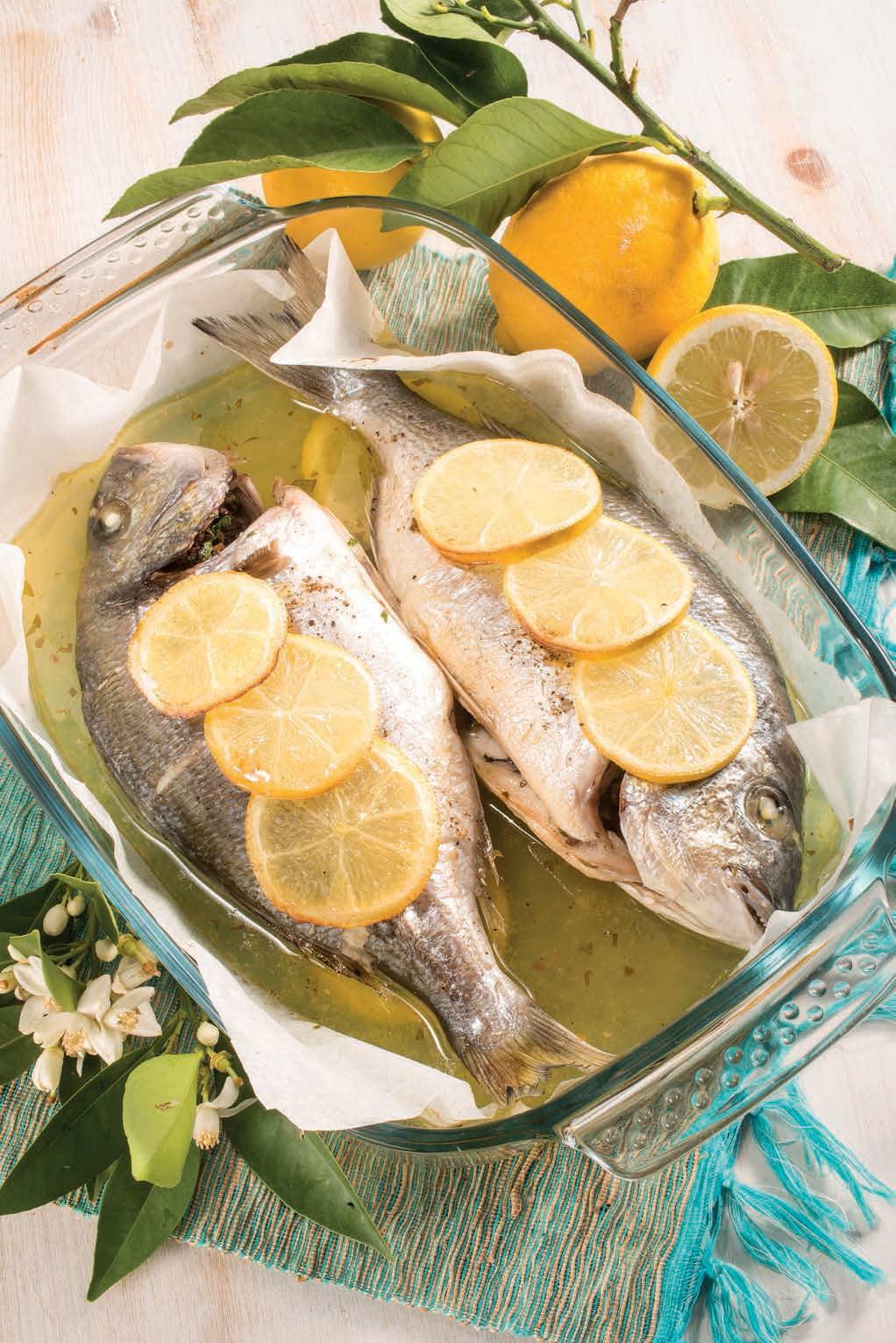 Orate Al Forno Con Limone Olive E Capperi Magpedia