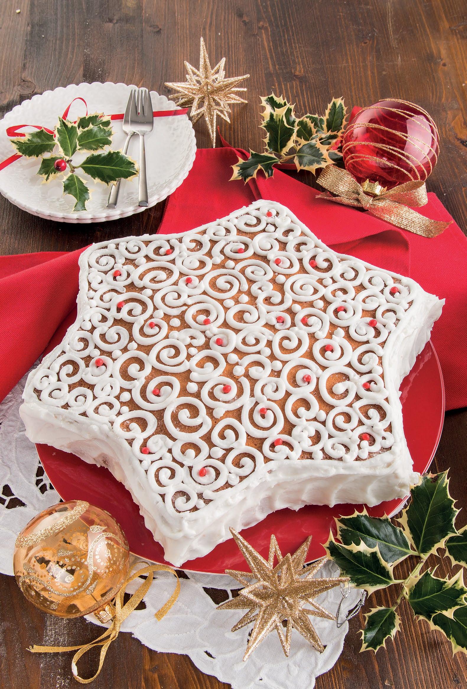 Torta Stella Di Natale.Dolce Stella Con Crema Chantilly Al Limone E Riccioli Di Ghiaccia