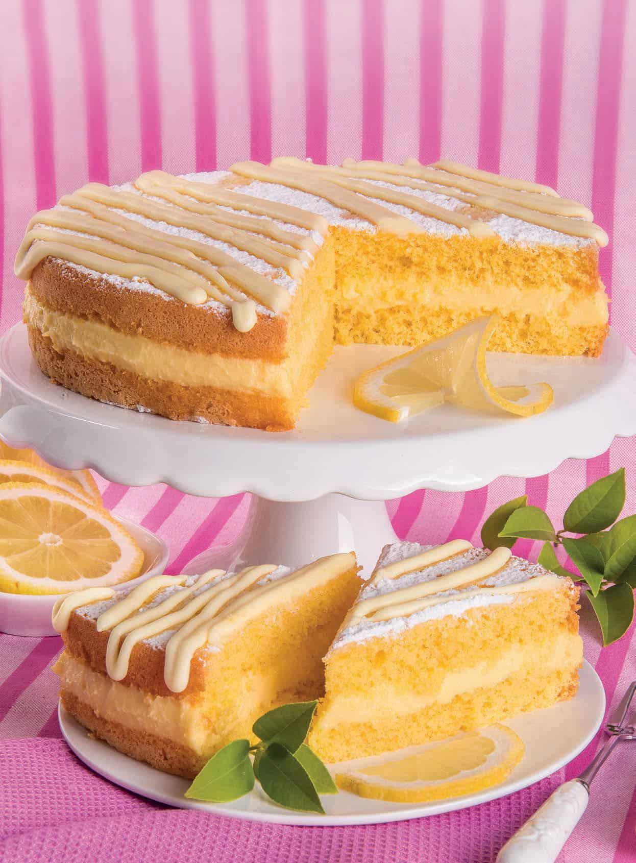 Torta Soffice Con Crema Al Limoncello E Glassa Di Limone Magpedia