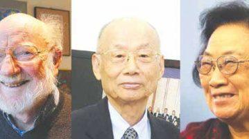 A sinistra la cartina della diffusione nel mondo della malaria. Sopra i tre Nobel per la medicina 2015: William C. Campbell; Satoshi Ōmura e Tu Youyou