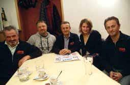 Da destra: Giancarlo Manavella, Paolo Pons, Piero Beltrando, Elisa Camusso e Mauro Bianciotto