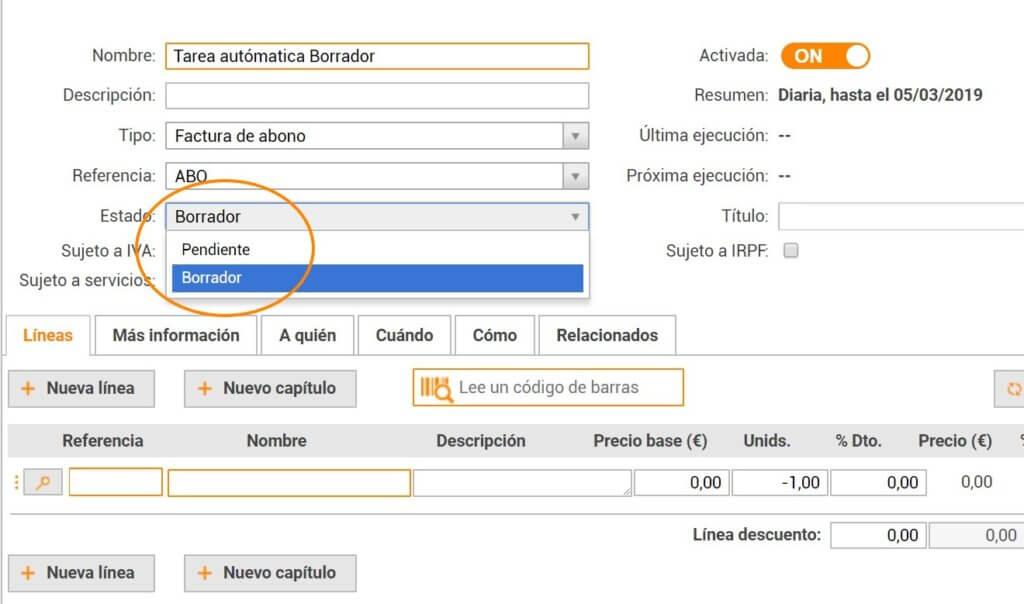 Facturación automática desde un ERP