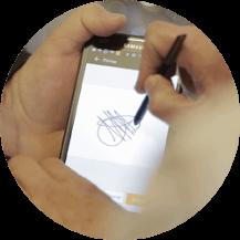 Firmar pedidos y albaranes con el móvil STEL Order.
