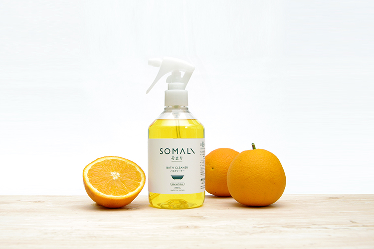 SOMALIバスクリーナーは天然オレンジの香り