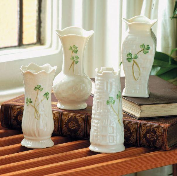 Belleek Set Of 4 Mini Vases Tara Gift Shoppe