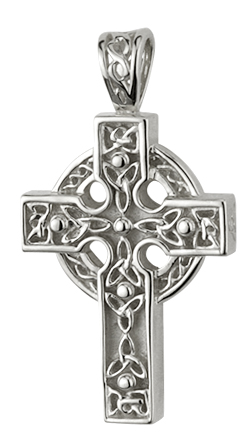 Sterling silver heavy trinity knot celtic cross pendant tara gift sterling silver heavy trinity knot celtic cross pendant aloadofball Image collections