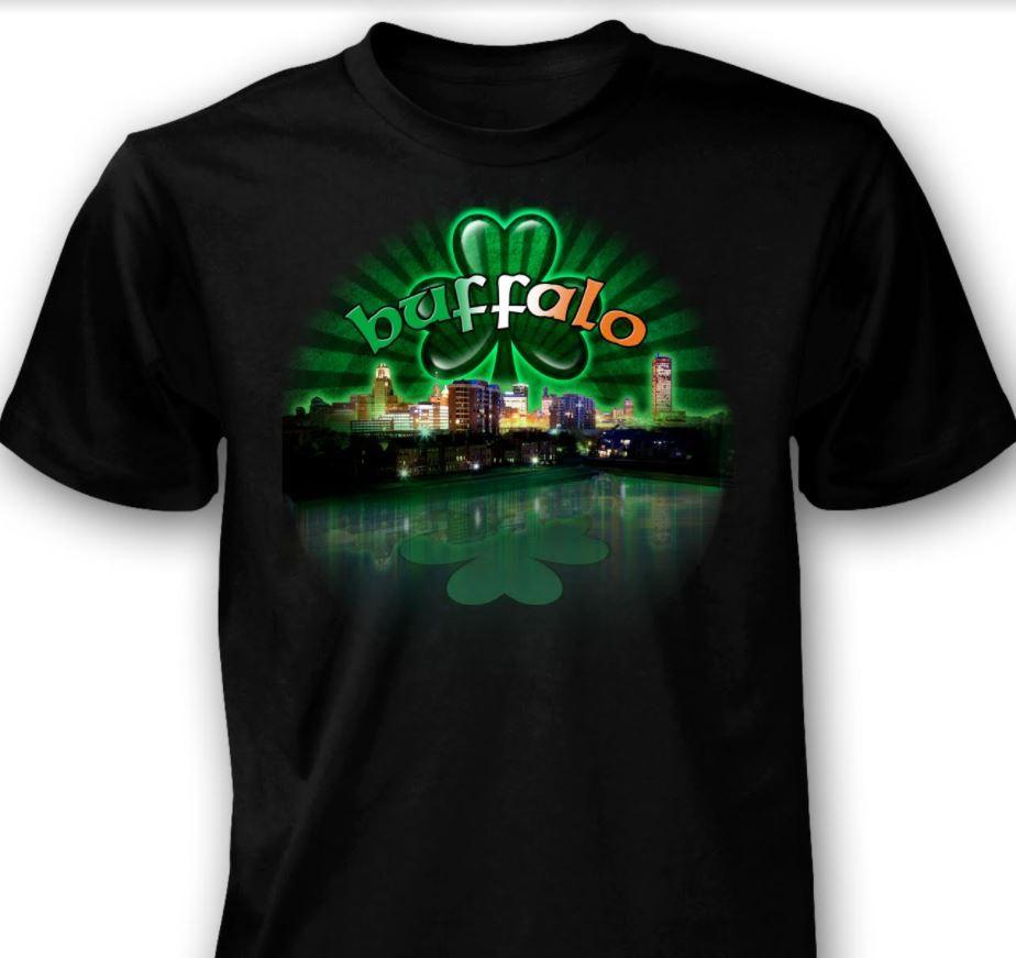 bea98af9d Buffalo Skyline St. Patrick s Day Short Sleeve Tee - Tara Gift Shoppe