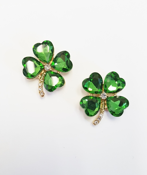 Four Leaf Clover Gold Or Silver Stud Earrings