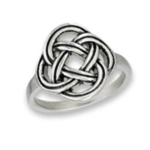 Stainless Steel Celtic Knot Ring Timeless Irish Treasures Celtic