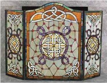 Celtic Stained Glass Fireplace Screen - Your One Stop Celtic Shop ...