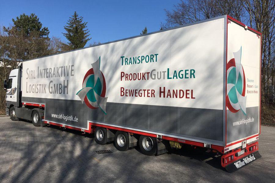 Der LKW der Sirl Interaktive Logistics.