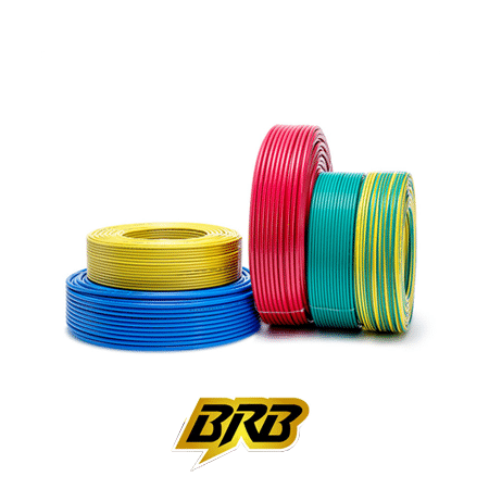 BRB 10 Sq Mm (7-w) PVC Insulated Single Core Cable 90 Mtr Red
