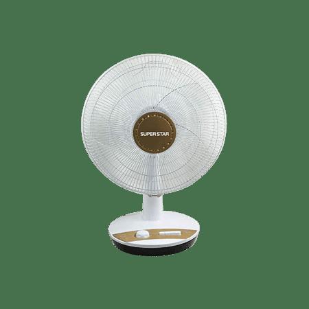 400 Mm Sweep Table Fan Golden Gray