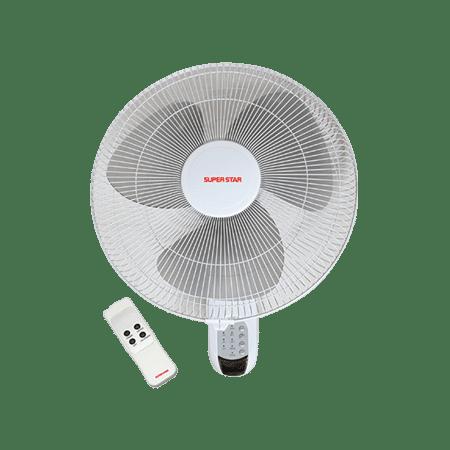 400 Mm Remote Control Wall Fan White
