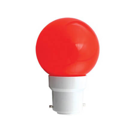 Click 0.5W LED Night Bulb Red