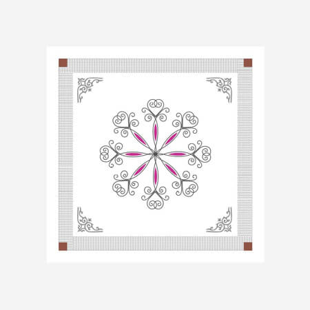 RFL 2'X2' Hot Stamping Ceiling Flower