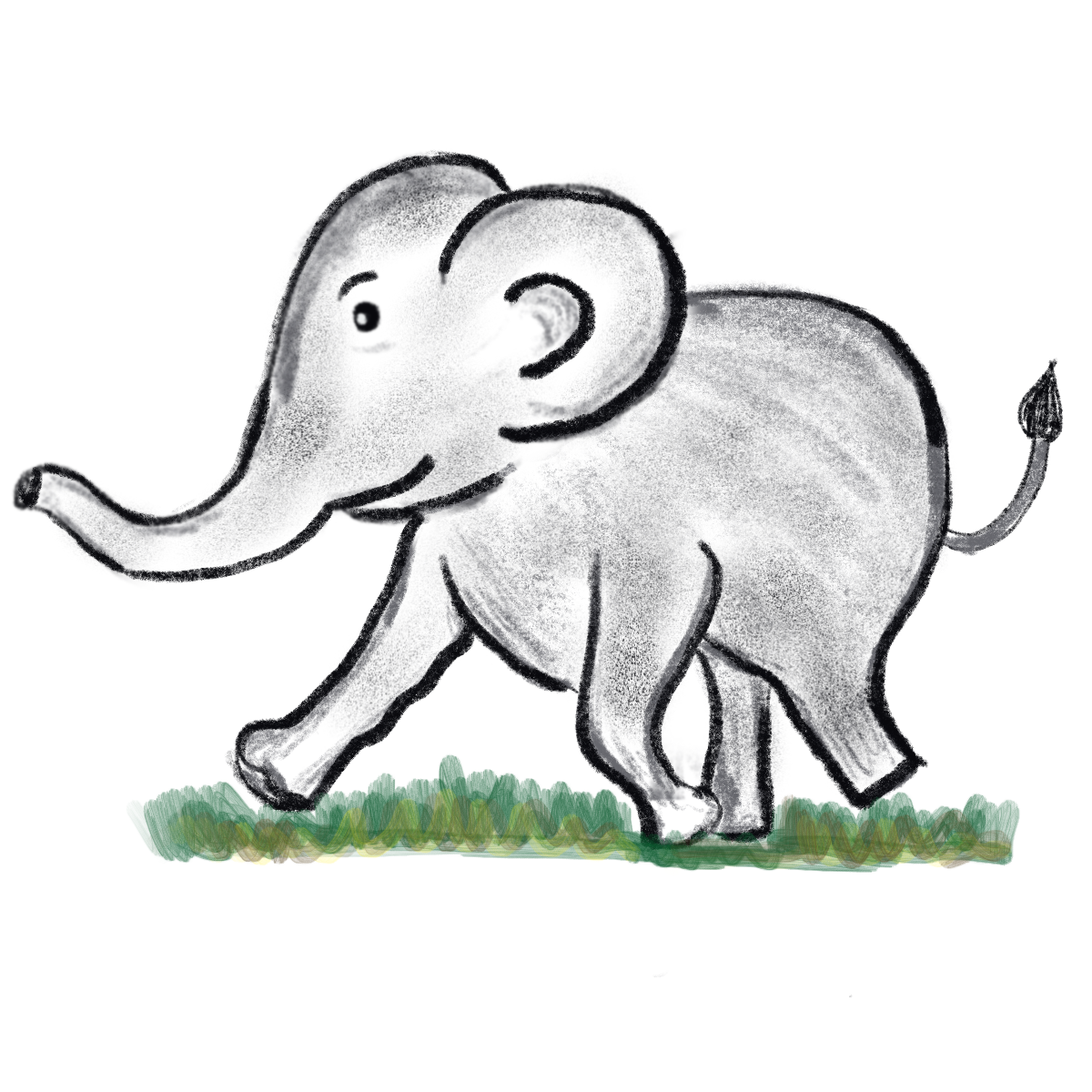 Baby Elephant Running Storyweaver Including transparent png clip art, cartoon, icon, logo, silhouette, watercolors, outlines, etc. storyweaver