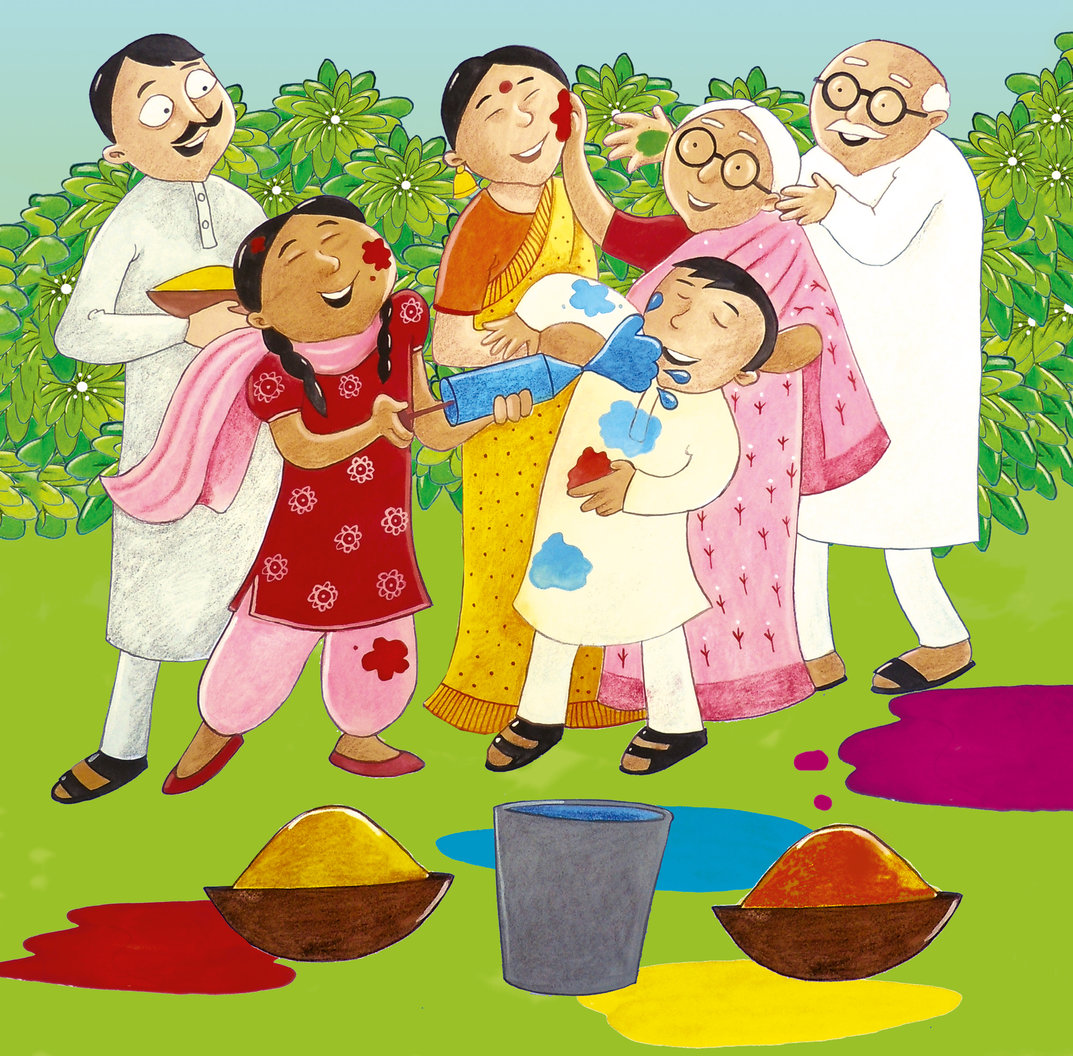 kids painting clipart