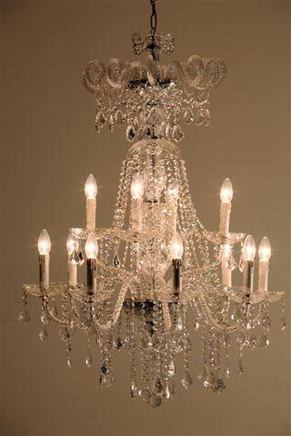 Stout Verlichting Collectie Sfeerfoto Kristal Kroonluchter  12 lichts