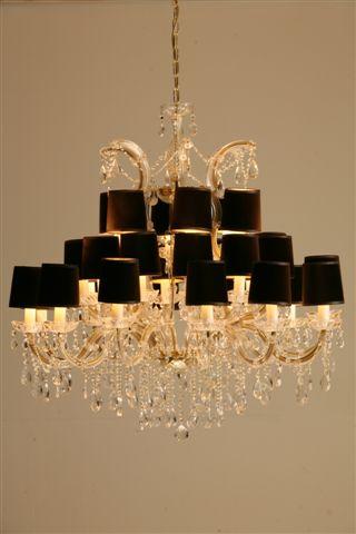 Stout Verlichting Collectie Sfeerfoto Kristal kroonluchter 30Lichts