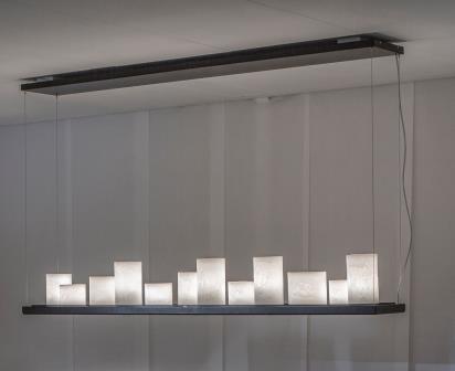 Stout Verlichting Collectie Sfeerfoto 180x25 cm 5x LEDspot+12x E14+kaars