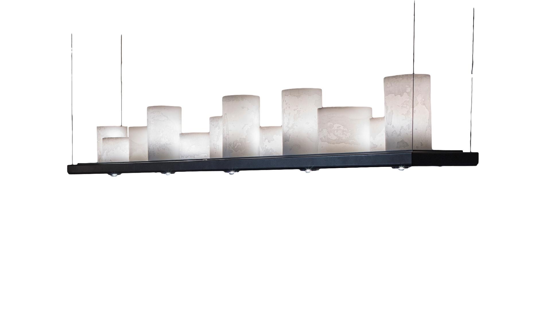 Stout Verlichting Collectie Sfeerfoto 125x25 cm 3x led spot + E14 kaars 8