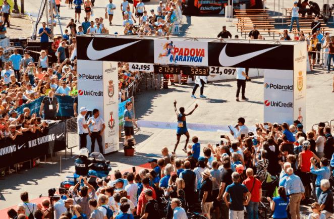Arrivée du Marathon Padova