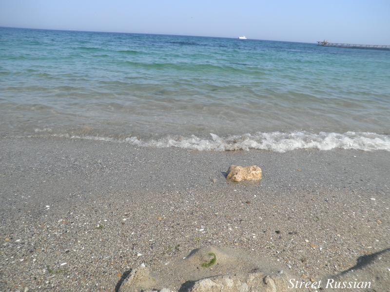 The gentle барашки of the Black Sea.