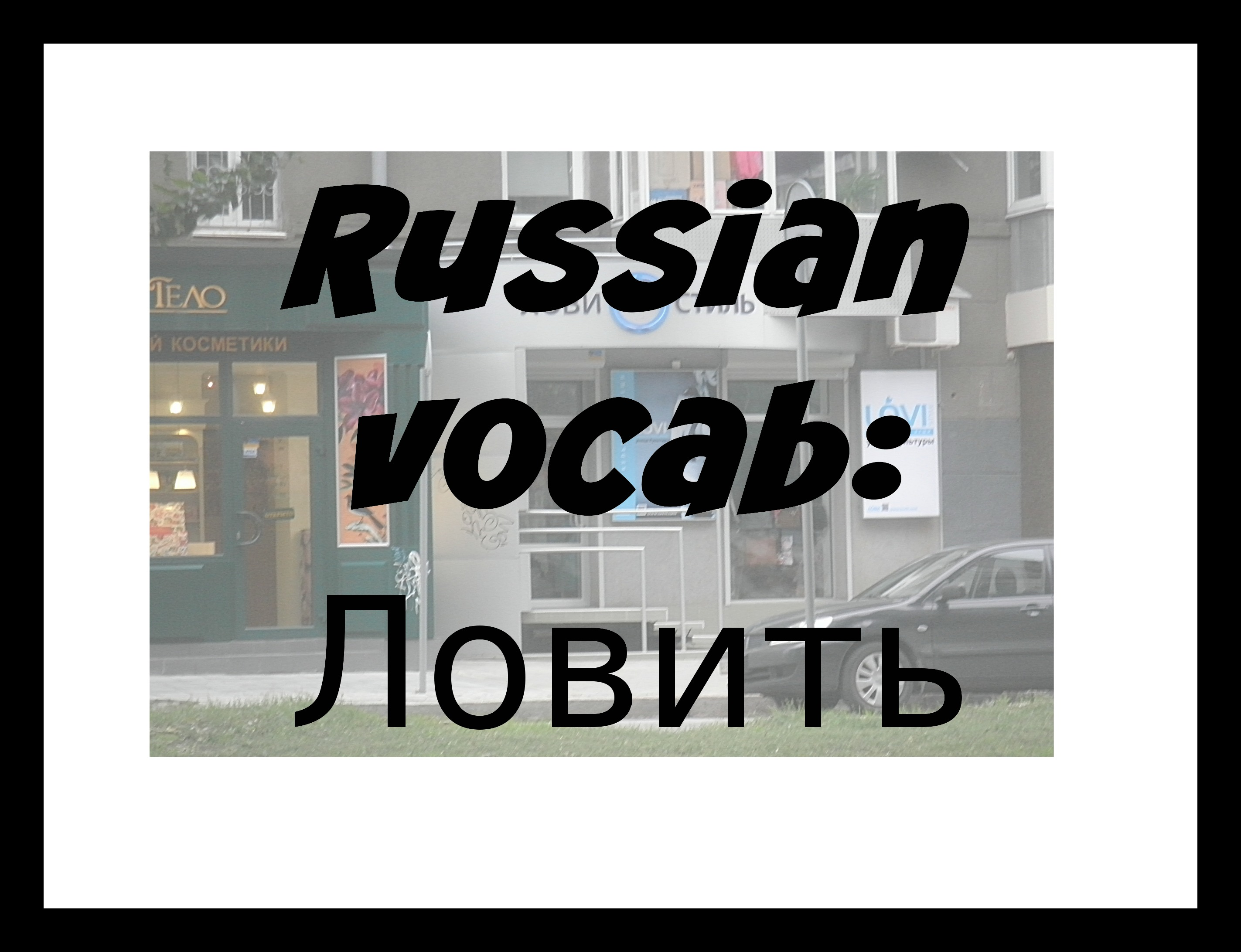 Russian Vocab: to catch