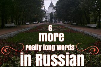 6 more really long Russian words