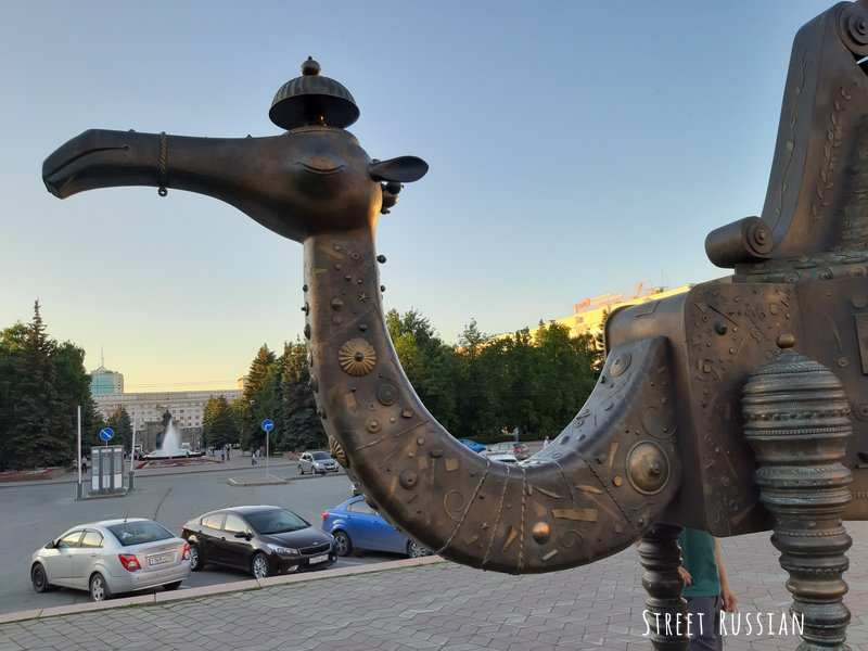 Why is Chelyabinsk full of camels?