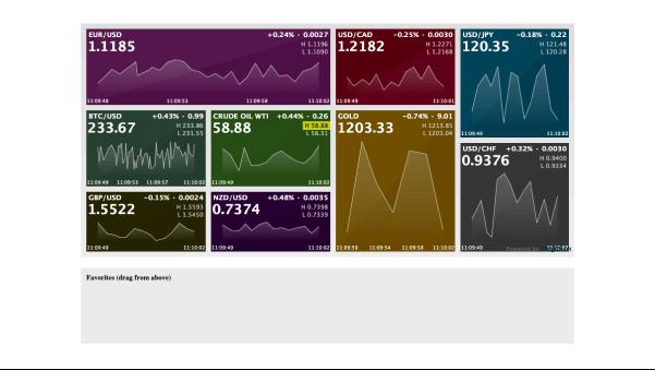 Financial Widget Dashboard