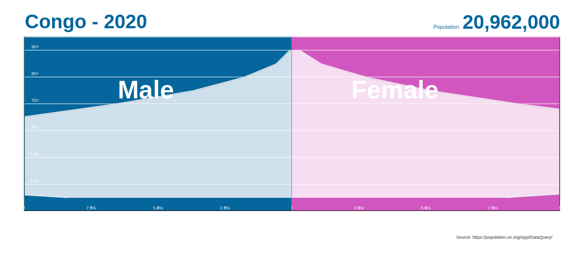 Population Pyramid with Labels