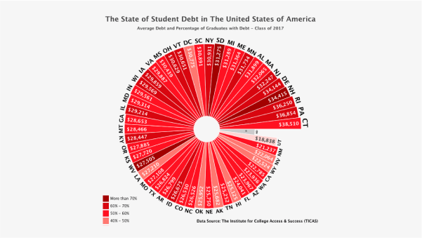 Custom Pie Chart - Student Debt in the US