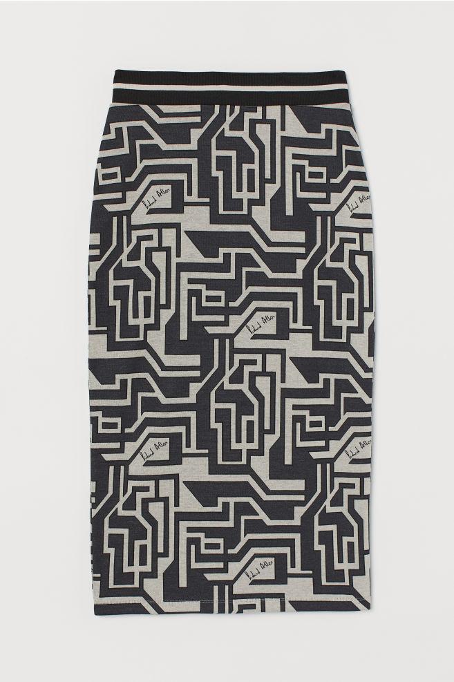 H&M Jacquard-knit Pencil Skirt