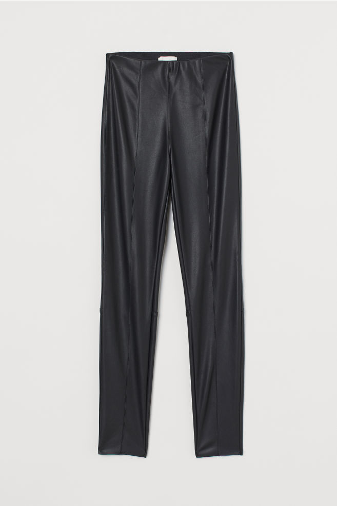 H&M Leggings with Creases - Black