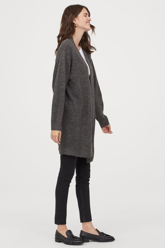 OOTD - How to Style your H&M-Long Cardigan - Gray melange