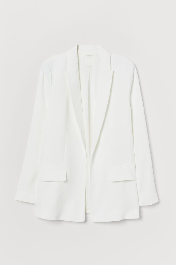 H&M Long Jacket - White