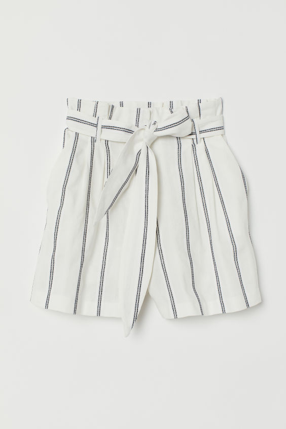 H&M Paper-bag Shorts