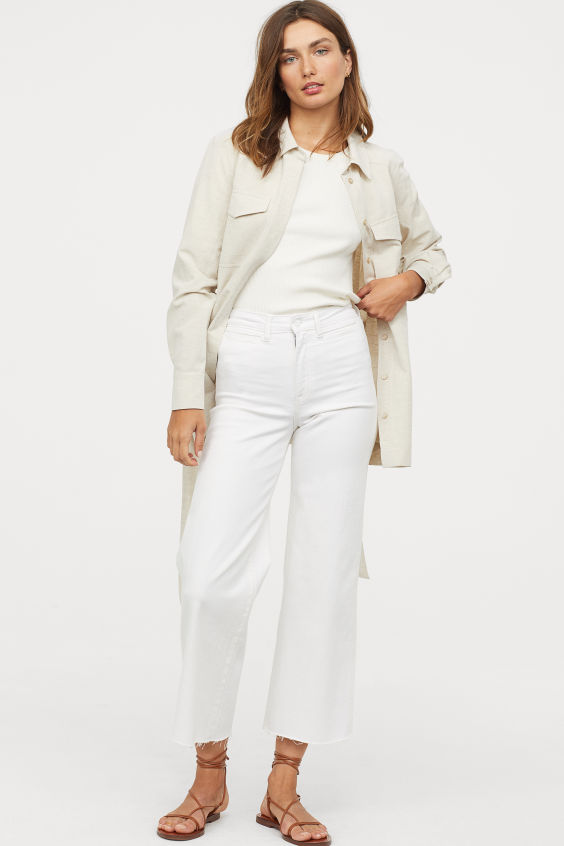 OOTD - How to Style your H&M-Culotte High Ankle Jeans - Cream