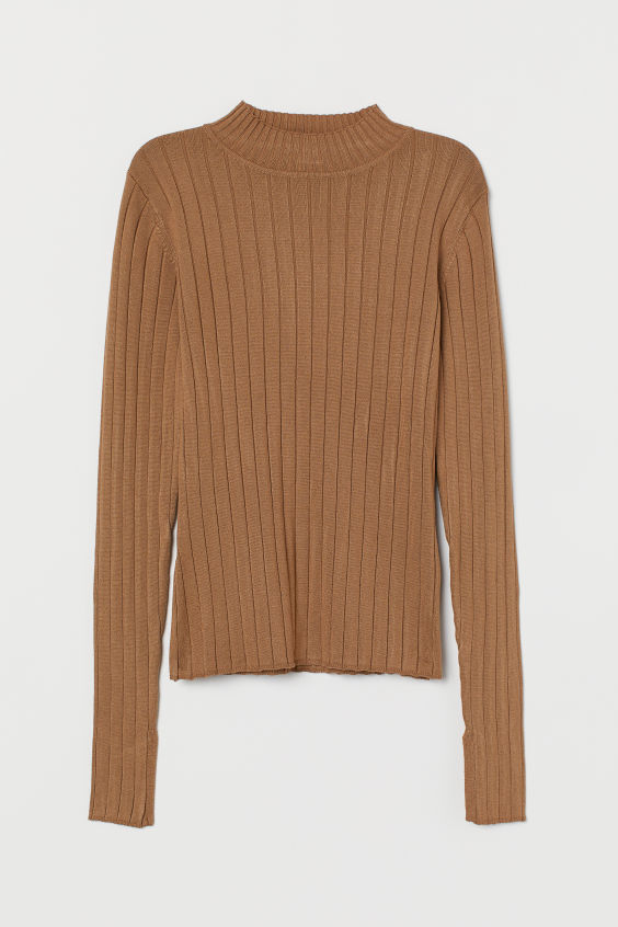 H&M Ribbed Sweater - Camel