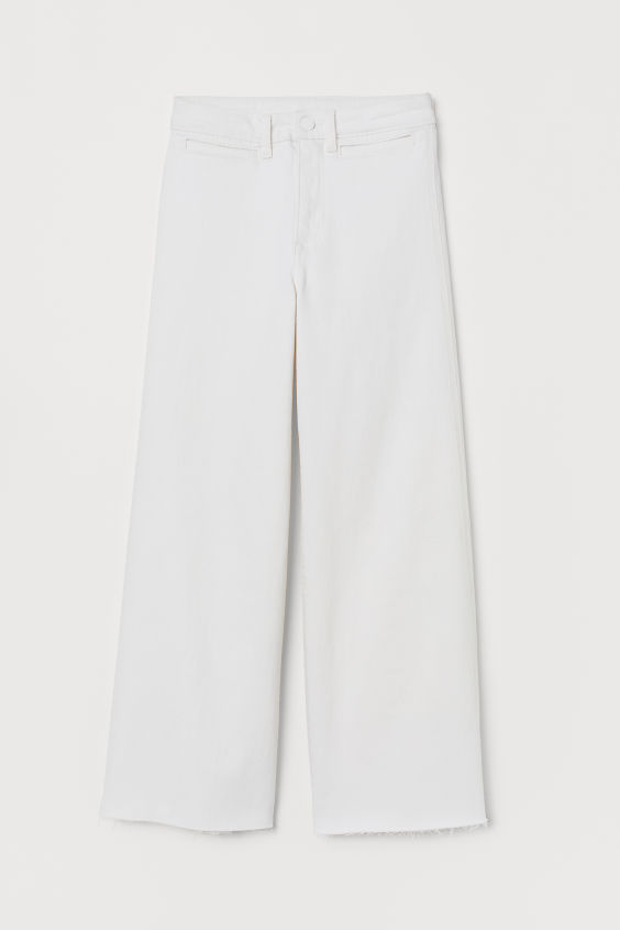 H&M Culotte High Ankle Jeans - Cream