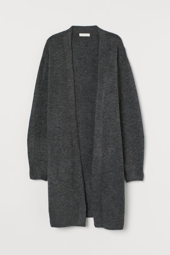 H&M Long Cardigan - Gray melange