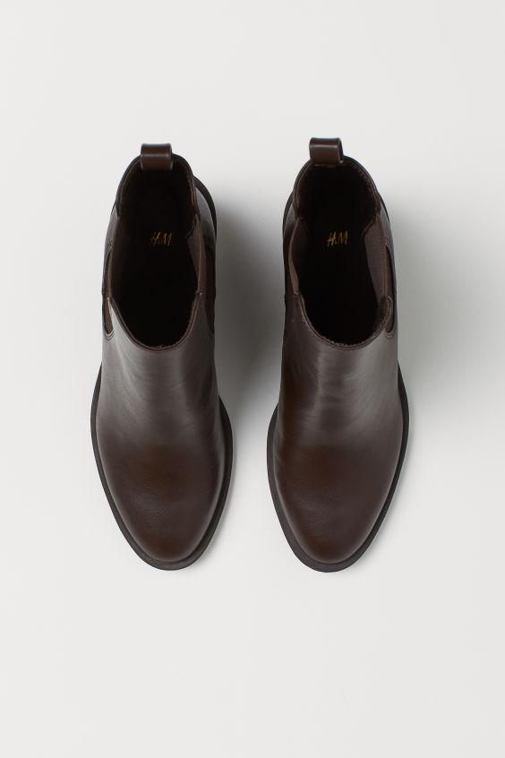 H&M Heeled Boots - Dark brown