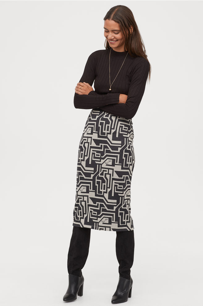 OOTD - How to Style your H&M-Jacquard-knit Pencil Skirt