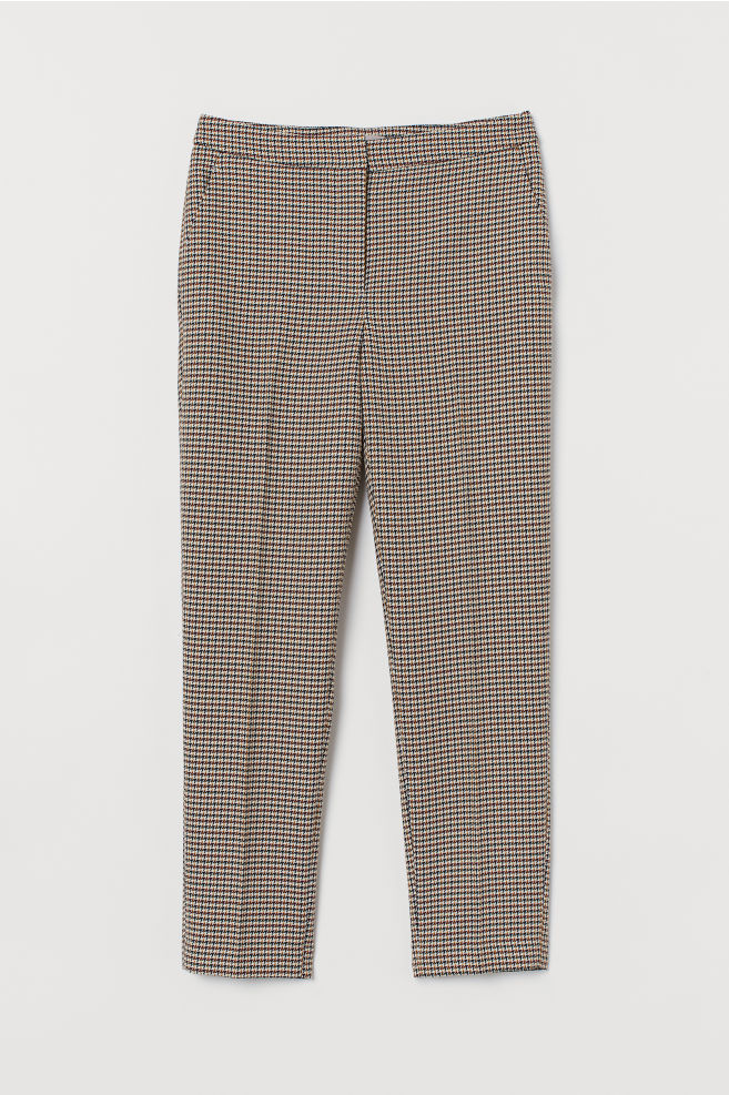 H&M Slacks - Beige/checked