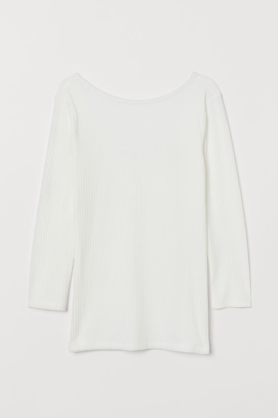 H&M Fitted Top - White