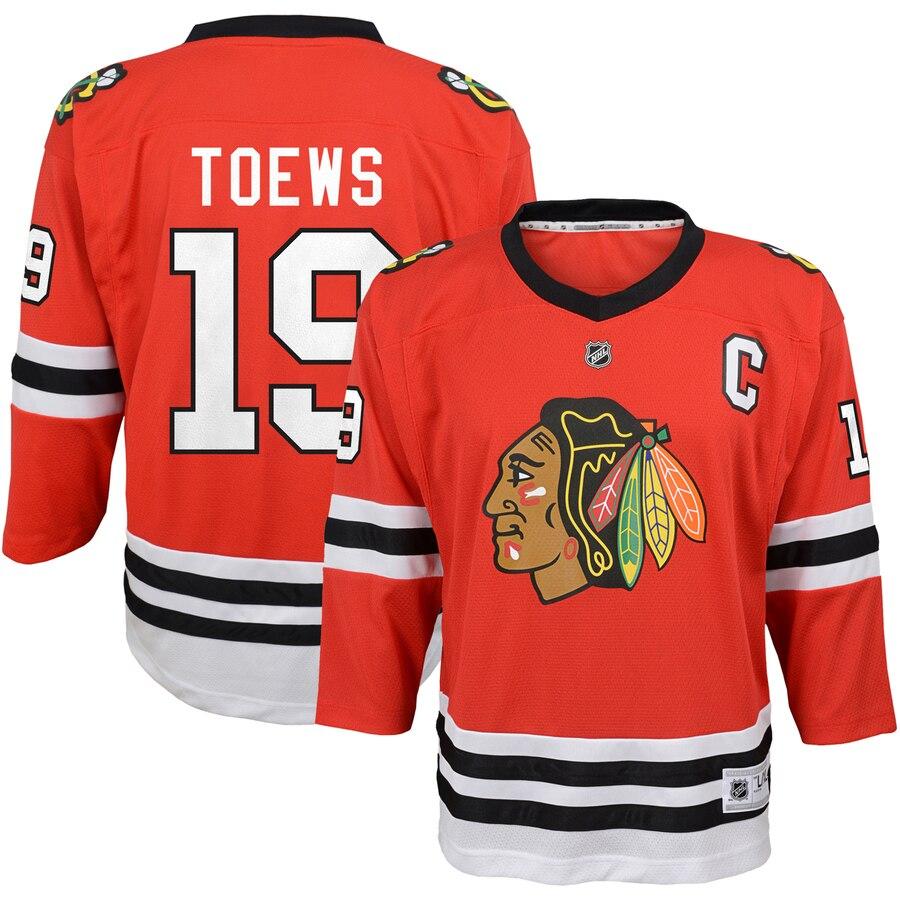 Preschool Chicago Blackhawks Jonathan Toews Red Replica Player Jersey- Jersey
