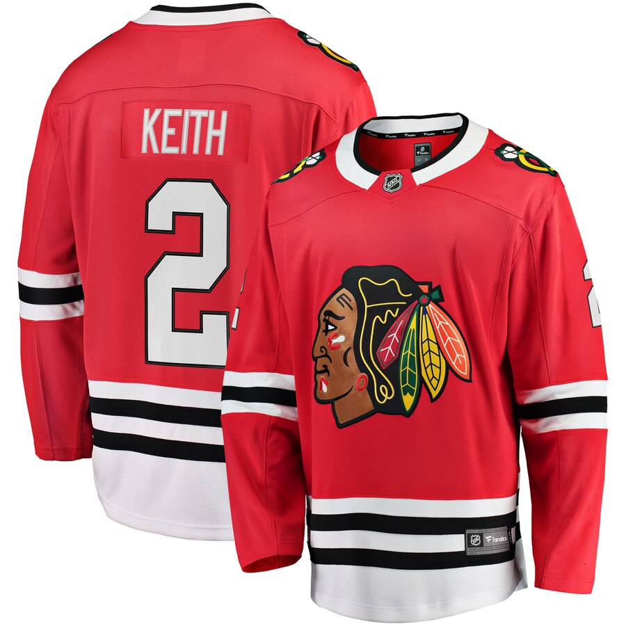 Youth Chicago Blackhawks Duncan Keith Fanatics Branded Red Breakaway Player Jersey- Jersey