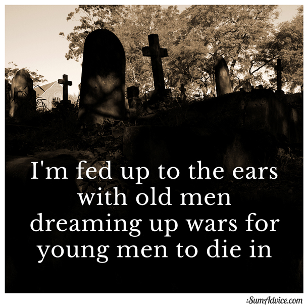 fed up with men